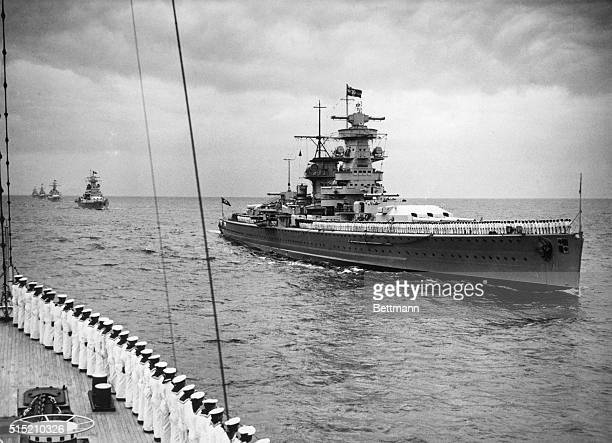 4/15/1937London England Admiral Graf Spee at the Coronation Parade in London At the great flotilla Germany was represented by the Battleship Admiral...