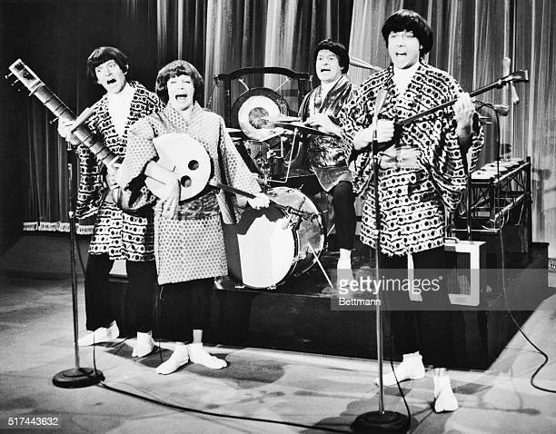 4/15/1964Hollywood CA Don't let these beetles bug you They're only imitating Japanese beetles The kimonoclad group includes Tony Randall Martha Raye...