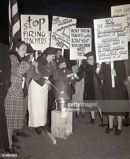 4/17/1940New York New York Teachers' organizations protesting the cutting of 600 elementary school posts and protesting as well that substitutes were...