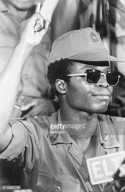 4/17/1980Monrovia Liberia Samuel Doe 4/17/1980 makes speech to the nation Photo by Omanza Eugene Shaw
