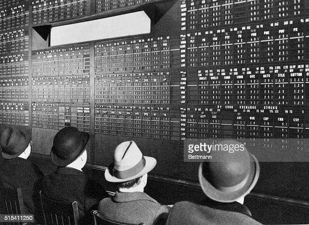 4/18/1936New York NY Wall Street quotation board