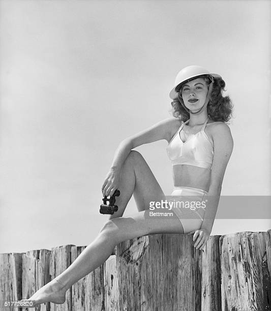 4/18/43Catalina Island California Did you ever see a DREAM walking on a shore patrol That's what Ava Gardner MGM starlet is about to do She is all...