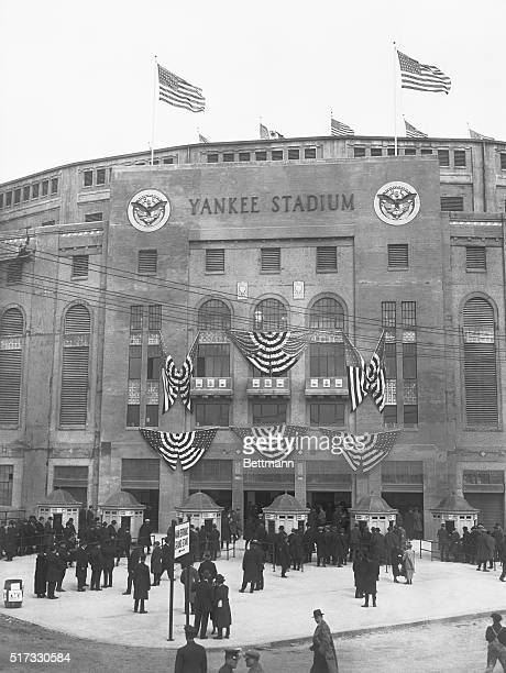 4/19/1923New York NY Opening of Yankee Stadium showing the entrance to the immense stadium