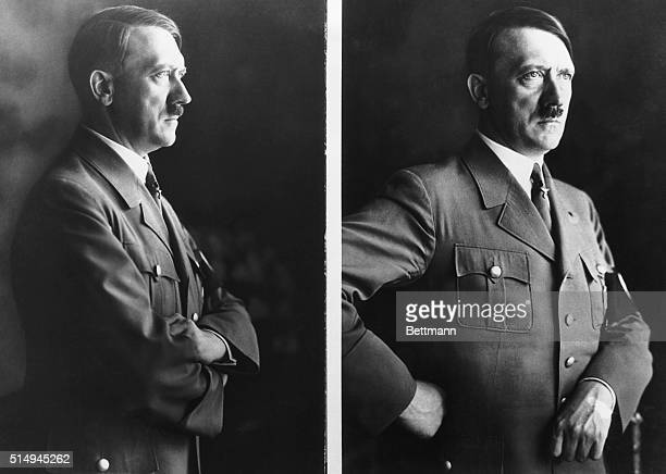 4/19/1936BerlinGermanyHERR HITLER'S LATEST PORTRAITSHere are the latest official portraits of Germany's strong man Fuhrer Adolf Hitler upon whom the...