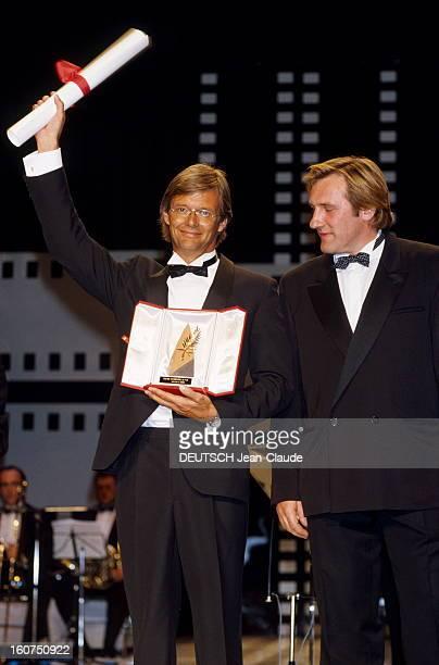 The Winners Le 41ème Festival de CANNES se déroule du 11 au 23 mai Gérard DEPARDIEU aux côtés de Bille AUGUST Palme d'or pour son film 'Pelle le...