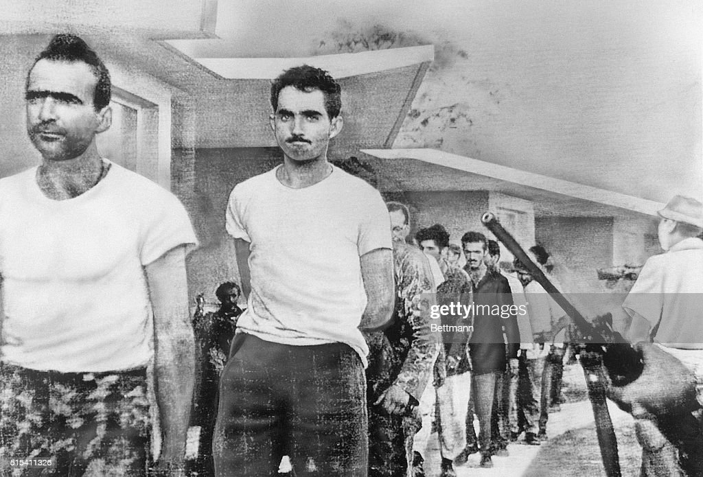 Captured Men from Bay of Pigs Invasion : News Photo