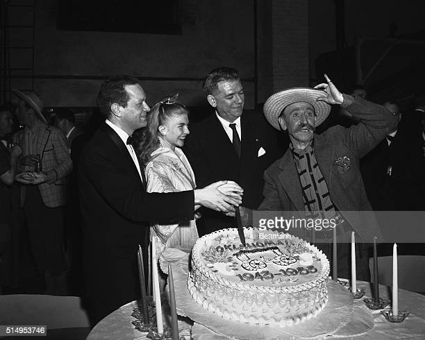 4/2/1953New York New York The Broadway stage hit 'Oklahoma' reached it's 10th birthday and a small party was held in honor of the occasion In...