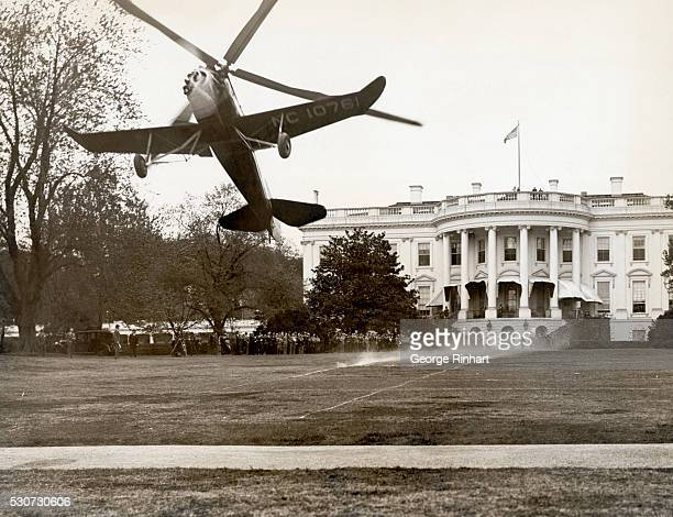 4/22/1931Washington DC Aviation history was made today when James G Ray noted airman and Vice President of the Pitcairn Cierva Autogiro Company...