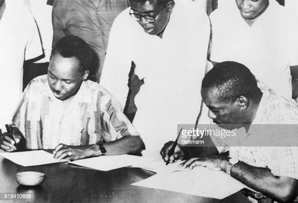 4/22/1964Zanzibar President Julius Nyerere of Tanganyika and President Abeid Karume of Zanzibar sign articles of union under which the two countries...