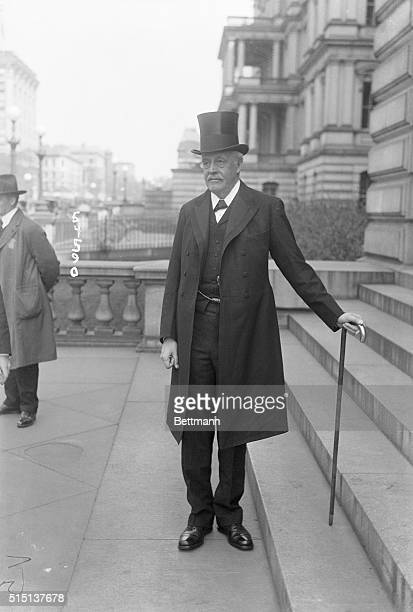 4/23/1917Washington DC British Foreign Minister Arthur James Balfour is shown wearing a very formal suit with a top hat and a long jacket He also...