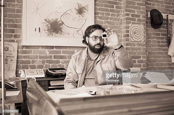 4/24/1970San Francisco CA Francis Ford Coppola works in his American Zoetrope movie studio