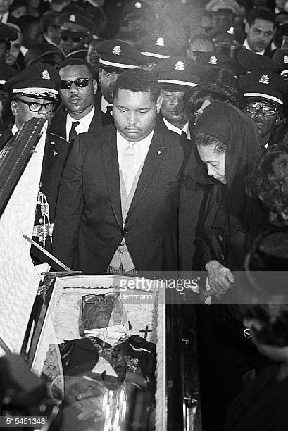 4/24/1971PortauPrince HaitiJean Claude Baby Doc Duvalier and his mother Simone pay their last respects to the late President Francois Papa Doc...