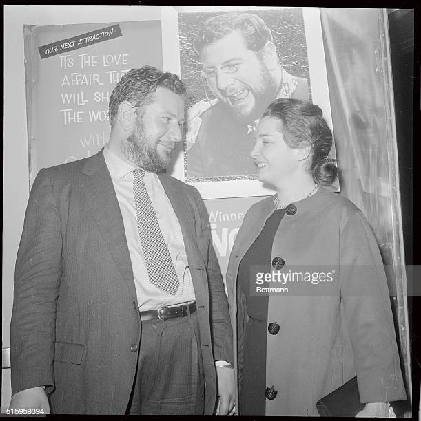 4/26/1961New York NY Actress Ina Balin is shown in the lobby of the Guild Theatre on West 50th Street after she had attended a special midnight...