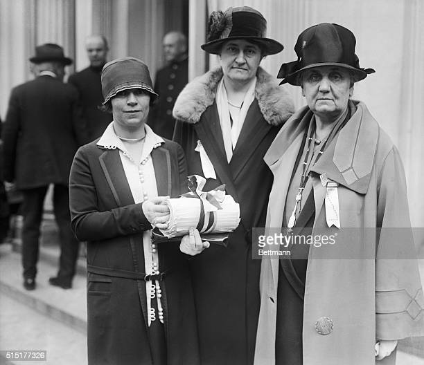 4/27/1926WashingtonDC Members of the Women's International League for Peace and Freedom presented a petition signed by 10000 people to President...