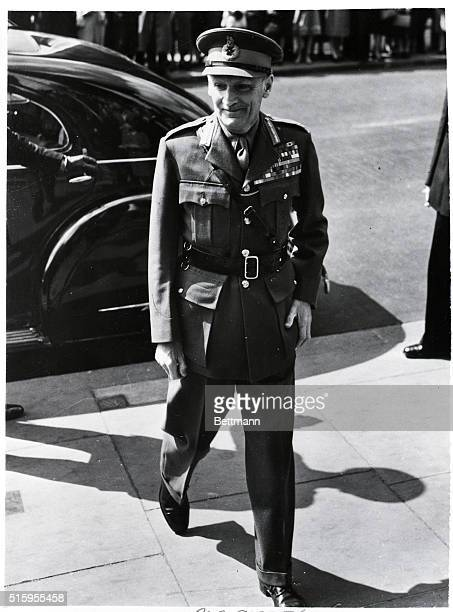 4/27/1948Lodnon England Field Marshal Viscount Montgomery Chief of the Imperial General Staff arrives at St Martin'sintheField's Church London for...