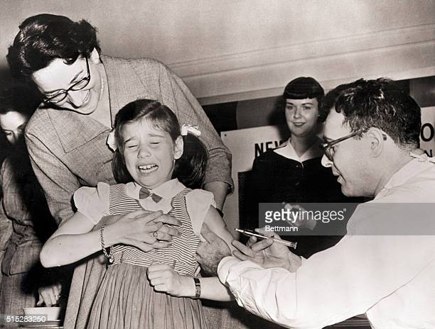 4/27/1954New York NY Little Susan began to howl when the doctor gave her a shot of the vaccine Two teams of doctors and nurses from the Department of...
