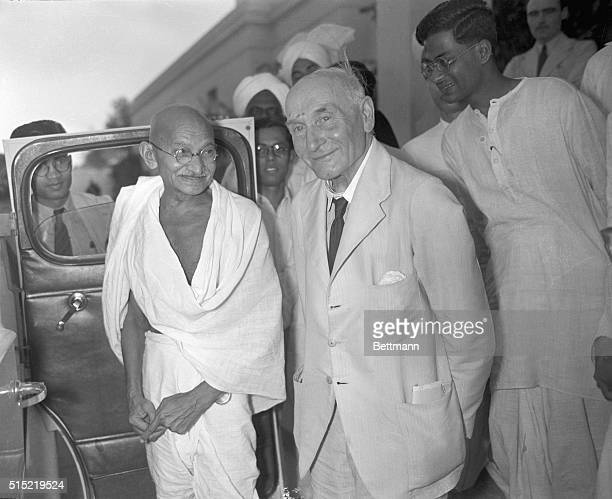 4/28/1946New DelhiIndiaMahatma Gandhi shown as he left the Cabinet Minister's residence in New Delhi April 28 after a British Mission Conference on...