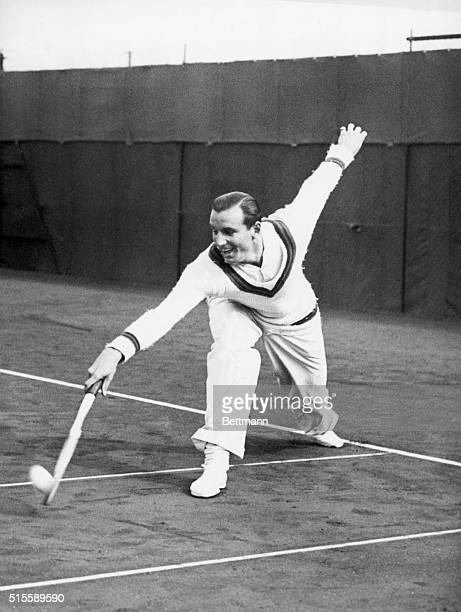 Bournemouth, England- Fred Perry, the Wimbledon Champion, fresh from his Australian and Amerian tours, defeated J.D. Morris 6-3, 6-1, 6-3 in the...