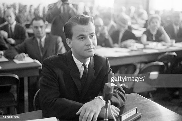 4/29/1960Washington DC Television disc jockey Dick Clark as he appeared before the House payola investigators He said that he has been 'convicted...