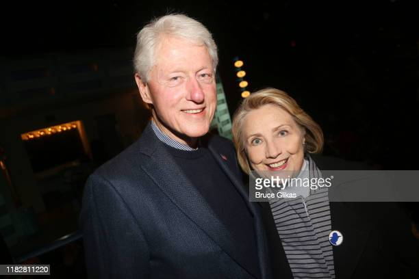 42nd President of the United States Bill Clinton and 67th United States secretary of state Hillary Rodham Clinton pose at the opening night of the...