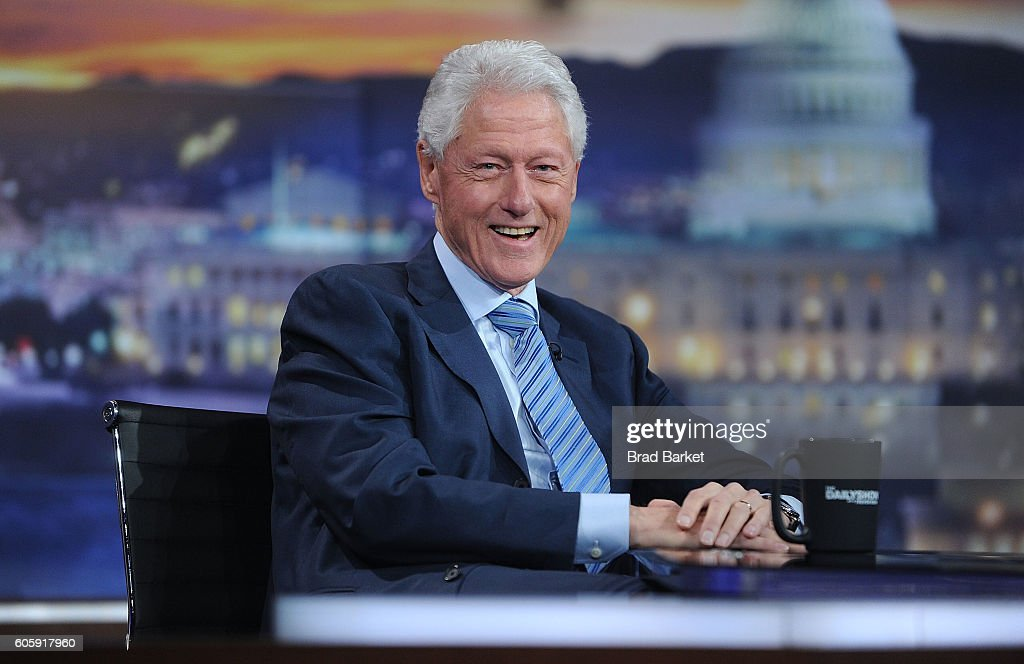 """The Daily Show with Trevor Noah"" welcomes Former President Bill Clinton as guest on Thursday, September 15, 2016"