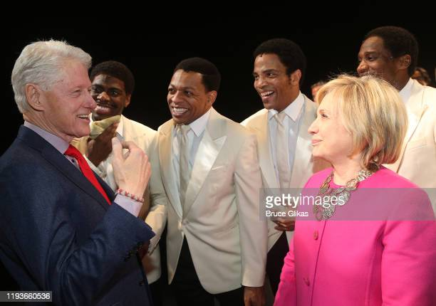 42nd President of the United States Bill Clinton, Jawan M. Jackson, Derrick Baskin, James Harkness, Hillary Clinton and Jelani Remy are seen...