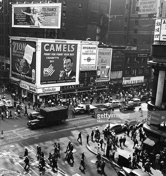 42nd Street and 7th Avenue from the Times Building New York City circa 1939