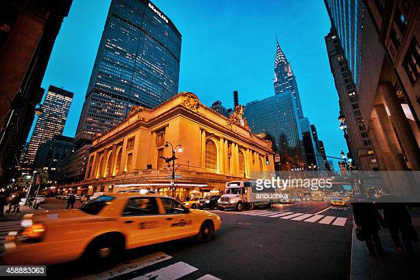 42nd street and grand central terminal, new york, usa - metlife building stock pictures, royalty-free photos & images
