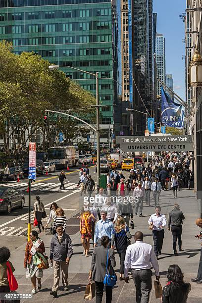 42nd street at bryant park - bryant park stock pictures, royalty-free photos & images