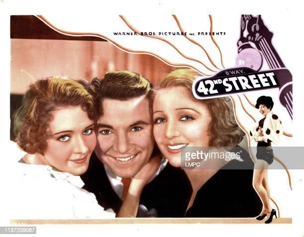42nd Street lobbycard from left Ruby Keeler George Brent Bebe Daniels 1933