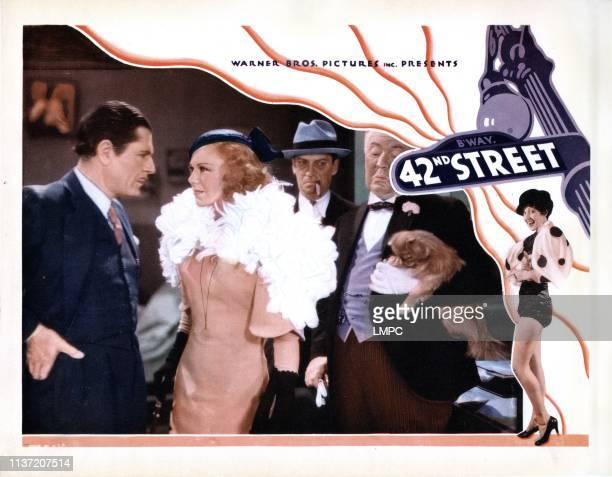 42nd Street lobbycard from left Warner Baxter Ginger Rogers Ned Sparks Guy Kibbee 1933
