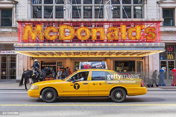 w 42nd street - mcdonald's stock pictures, royalty-free photos & images