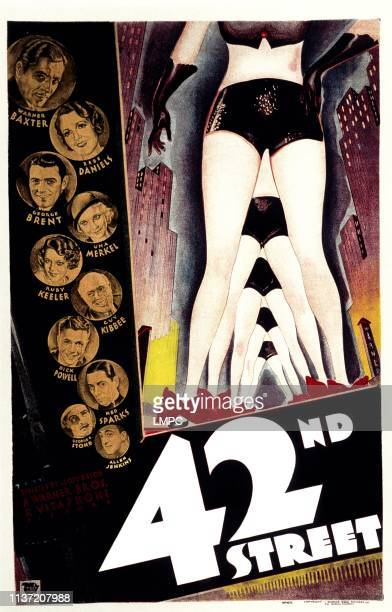 42nd Street poster Warner Baxter Bebe Daniels George Brent Una Merkel Ruby Keeler Guy Kibbee Dick Powell George E Stone Allen Jenkins 1933