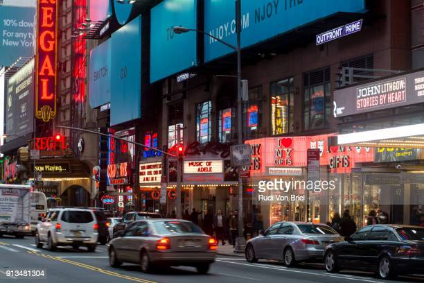 42nd street, times square, nyc. - gift shop stock pictures, royalty-free photos & images