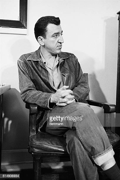 4/30/60San Quentin Prison California Convictauthor Caryl Chessman scheduled to die in gas chamber here 5/2 is pictured 4/30 during what may have been...