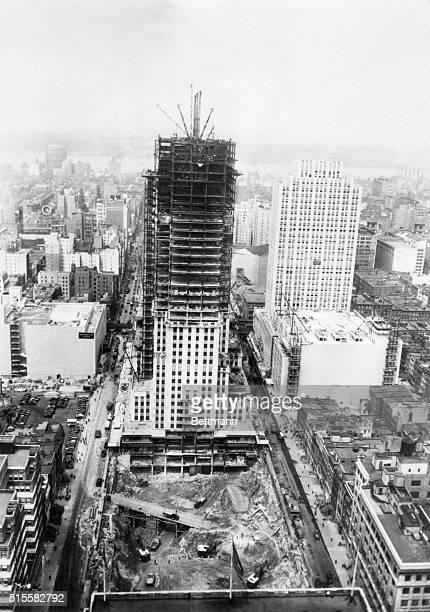 Aerial view of Rockefeller Center Filed 8/16/72