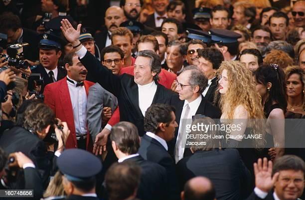 43rd Cannes Film Festival 1990: The Team Of Film New Wave By Jean-luc Godard. Présentation du film 'Nouvelle vague' de Jean-Luc GODARD au 43ème...