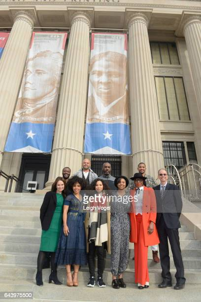 43rd Treasurer of the United States Rosie Rios Amirah Vann Jurnee SmolletBell Misha Green Aisha Hinds and Director of US Bureau of Engraving and...