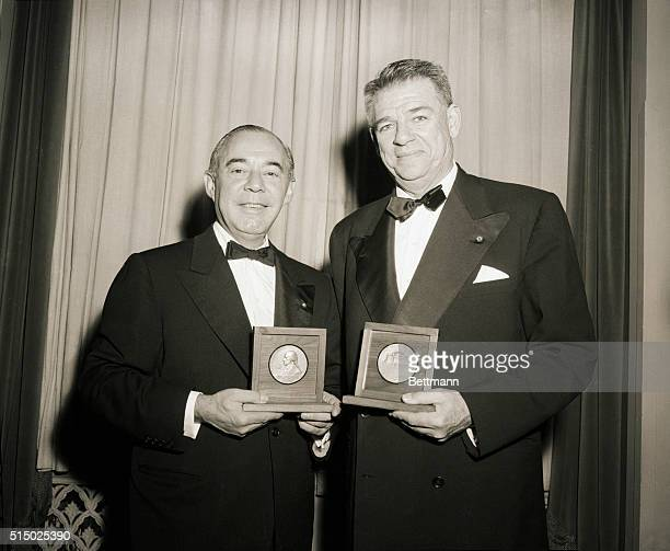 4/4/1956New York New York Richard Rogers and Oscar Hammerstein received Columbia's highest alumni award The Alexander Hamilton Medal from Wayne Van...