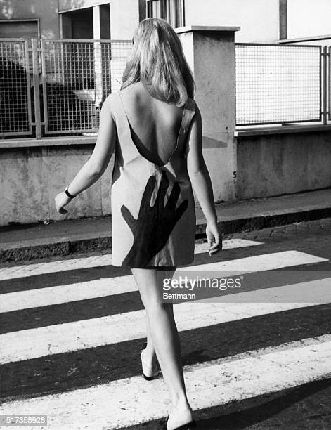 4/4/1967Rome ItalyFashion model Antonella Murgia wears one of the more novel creations made by artist Edith Ryker BPA2