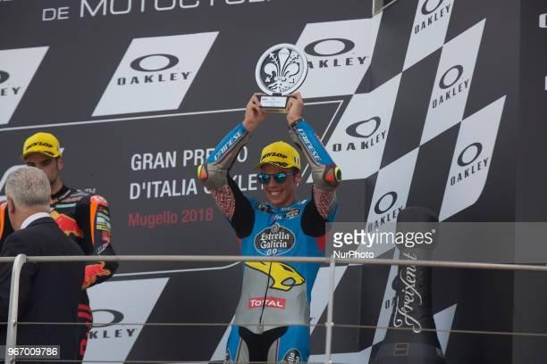 44Miguel OLIVEIRAPORRed Bull KTM AjoKTM 07Lorenzo BALDASSARRI Pons HP40Kalex 36Joan MIR EG 00 Marc VDSKalex podium Moto2 during Race MotoGP at the...