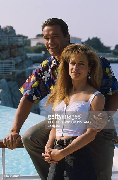 44th Cannes Film Festival 1991 Rendezvous With Arnold Schwarzenegger Le 44ème Festival de CANNES se déroule du 9 au 20 mai 1991 attitude d'Arnold...
