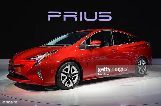 44th Tokyo Motor Show 2015 in Tokyo Big Sight on October 29 Tokyo Japan The new NISSAN HV Prius car on display