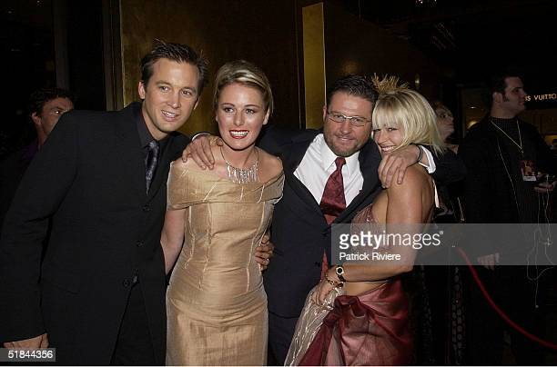 28 APRIL 2002 IAN STENLAKE KATE KENDALL PETER PHELPS AND GIRLFRIEND DONNA FOWKES AT THE 44th TV WEEK LOGIE AWARDS HELD AT MELBOURNE'S CROWN...