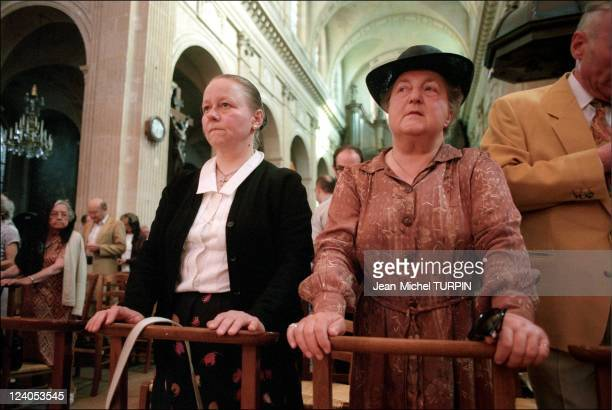 45th anniversary of Marshal Philippe Petain's death In Paris France On July 23 1996 Chantal and Monique Touvier