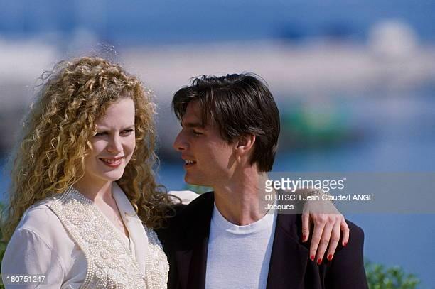 Rendezvous With Tom Cruise And Nicole Kidman Le 45ème Festival de CANNES se déroule du 7 au 18 mai 1992 Tom CRUISE de profil regardant son épouse...