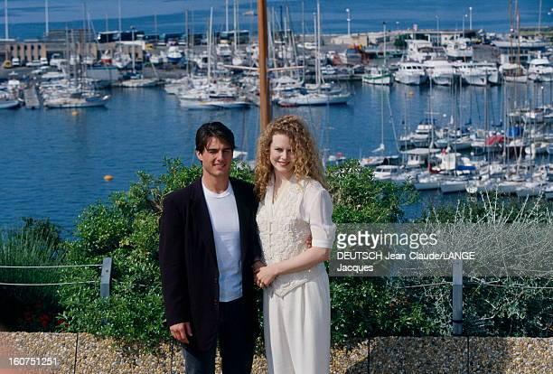 Rendezvous With Tom Cruise And Nicole Kidman Le 45ème Festival de CANNES se déroule du 7 au 18 mai 1992 attitude souriante de Tom CRUISE et son...