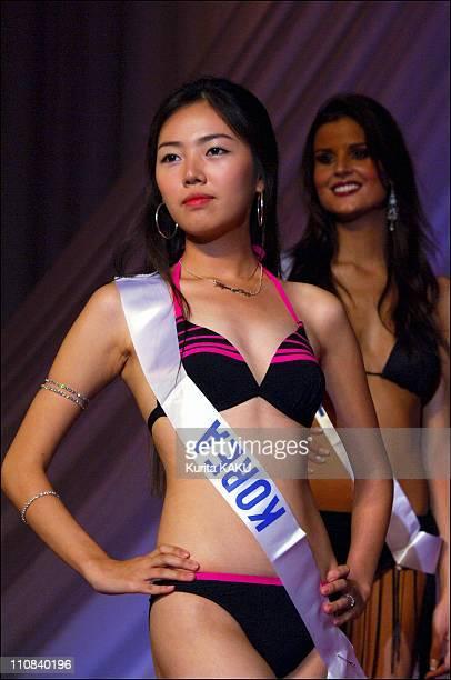 45Th Miss International 2005 In Tokyo Japan On September 13 2005 Miss International 2005 Press conference Miss Korea Kyung eun Lee