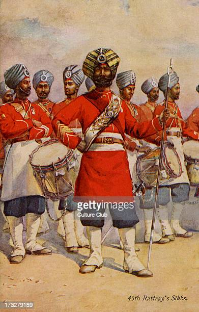 45th Rattray's Sikhs, British Colonial Army. Photograph from early 20th century.