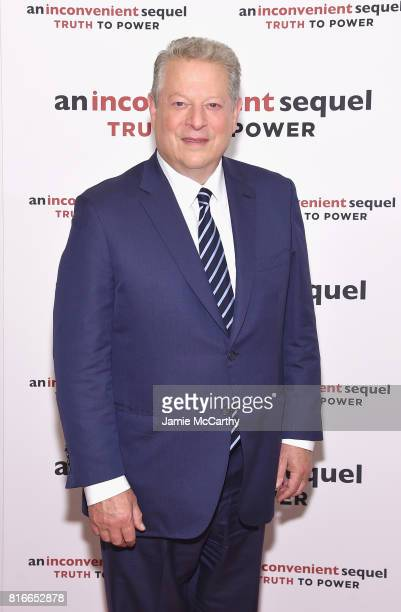 45th Vice President of the United States Al Gore attends the An Inconvenient Sequel Truth To Power New York Screening at the Whitby Hotel on July 17...